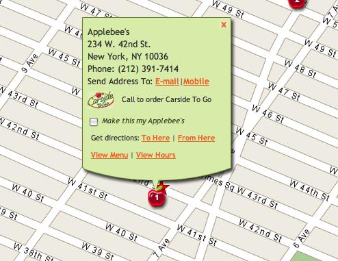 Applebees + Times Square =
